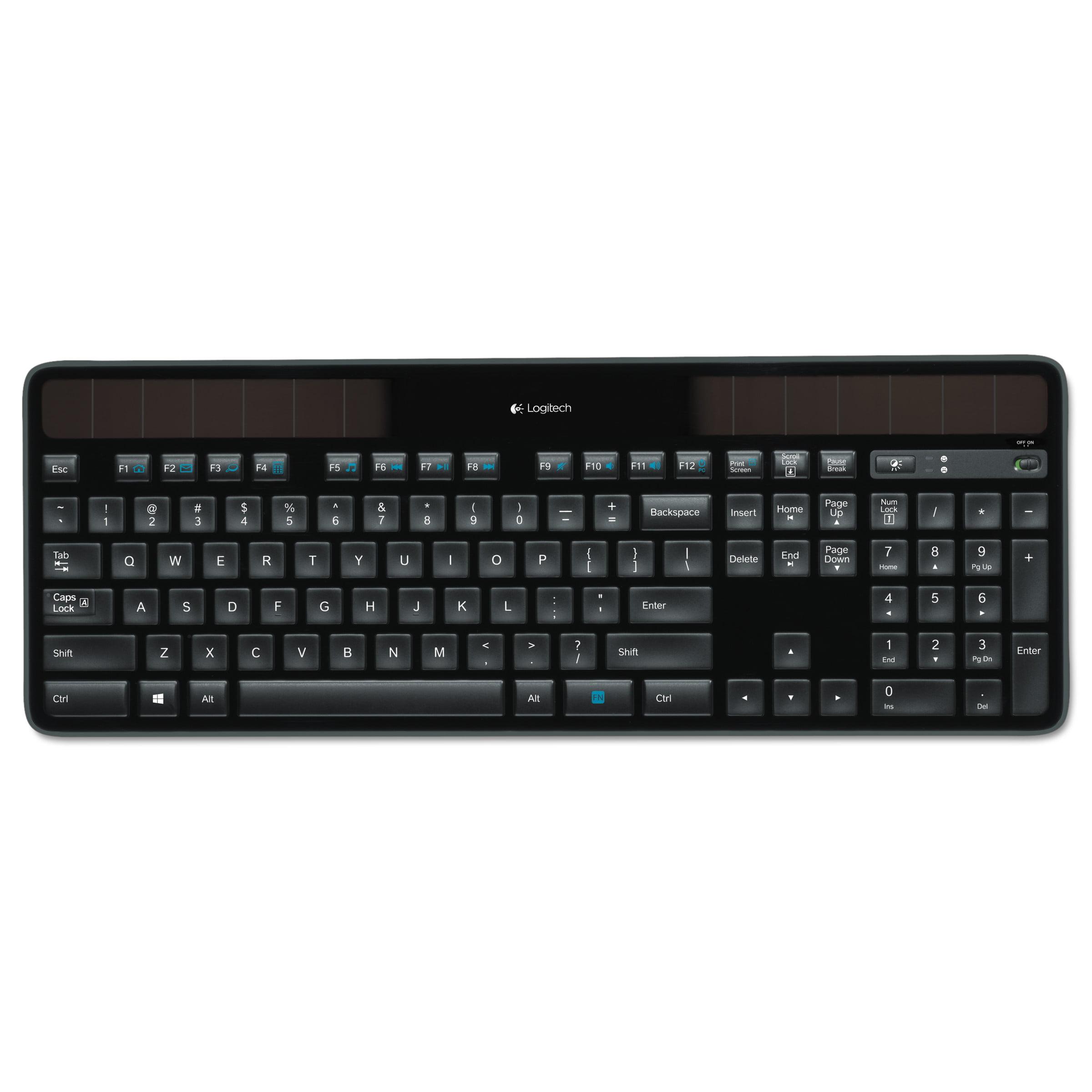 ea5c47e6eb01d Logitech K750 Wireless Solar Keyboard - Walmart.com