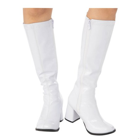 Adult GoGo Boot White Halloween Costume Accessory (White Rabbit Halloween Costume Alice Wonderland)