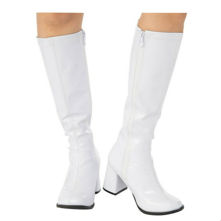 Adult GoGo Boot White Halloween Costume Accessory](Costume White Boots)