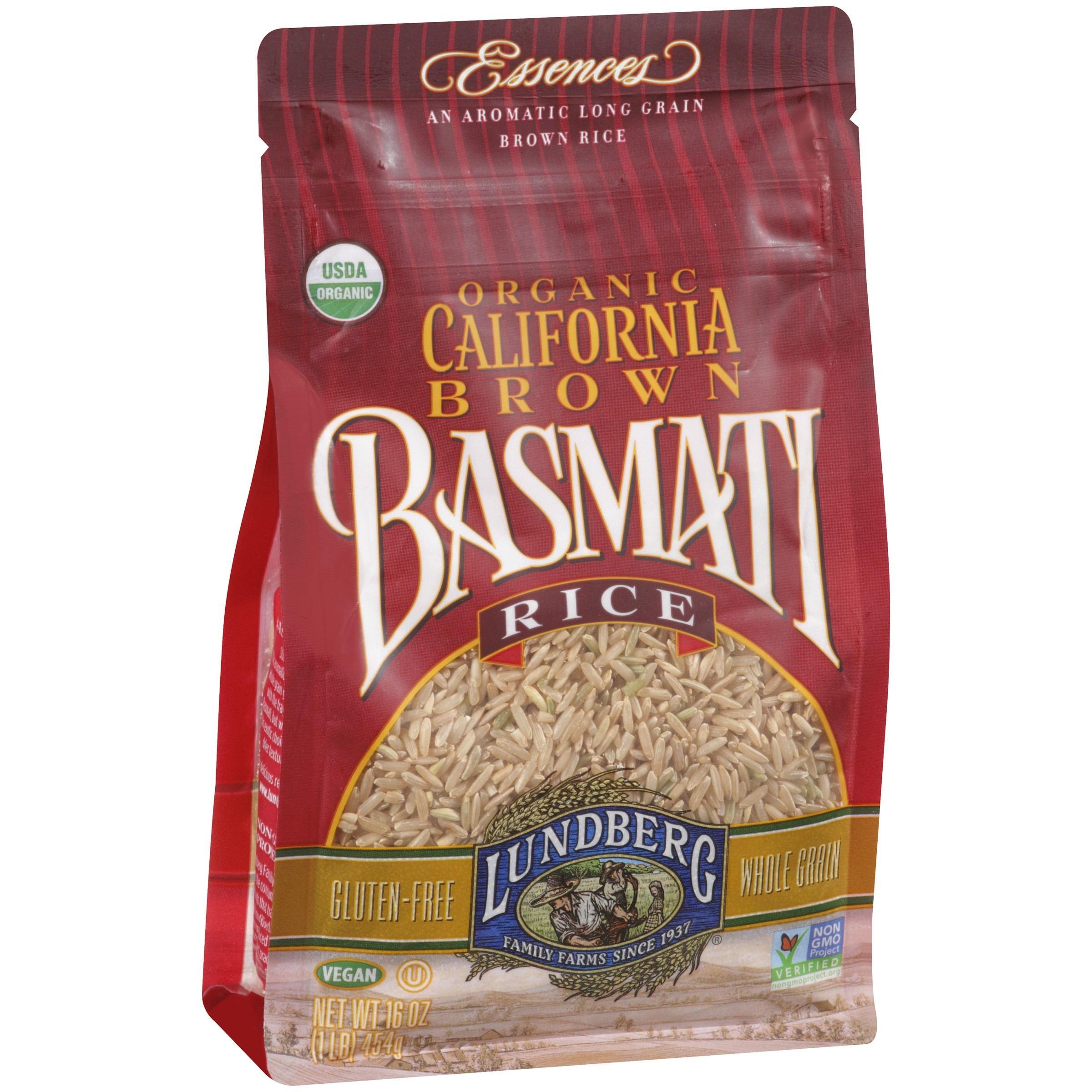 Lundberg Organic California Basmati Rice, Brown, 16 Ounce