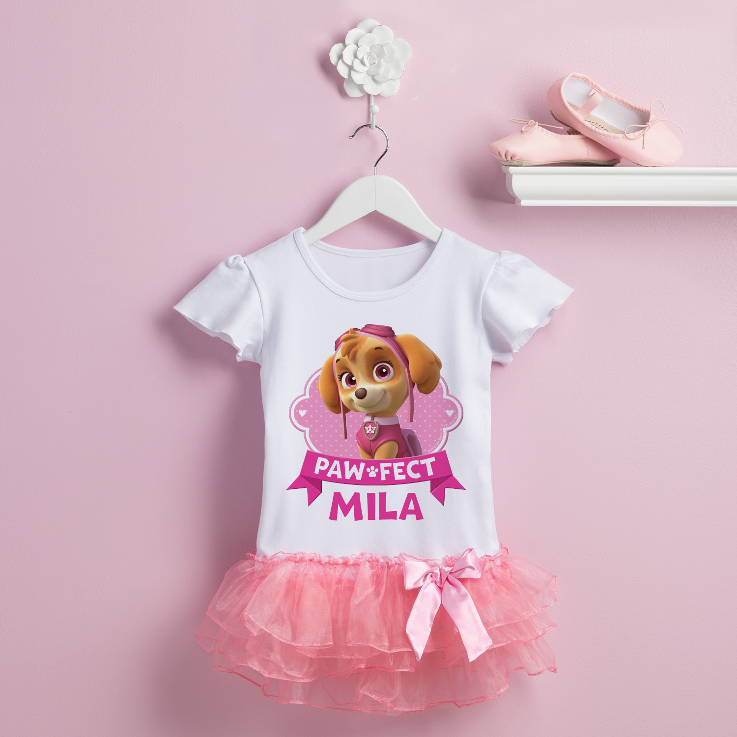 Personalized PAW Patrol Paw-fect Skye Toddler Girls' Tutu T-Shirt