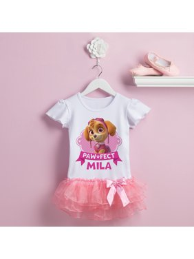 d7440263 Product Image Personalized PAW Patrol Paw-fect Skye Toddler Girls' Tutu T- Shirt