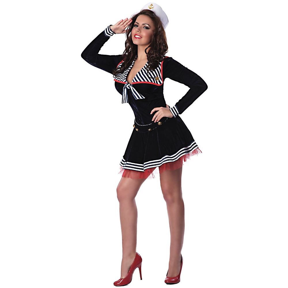 Pin Me Up Sailor Adult Costume - Small/Medium