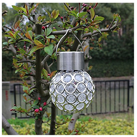 (Waterproof Solar Garden Tree Hanging Light 7 Color Changeable Lantern Ball Light Garden Fence Landscape Hanging Patio Lamps for Yard/ Path/ Driveway / Party)