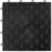 "VEVOR Garage Tiles Interlocking 12""x12"" Garage Floor Covering Tiles 25-Pack Black Diamond Garage Flooring Tiles Slide-Resistant Modular Garage Flooring 55000 lbs Capacity for Basement Gym Durable"