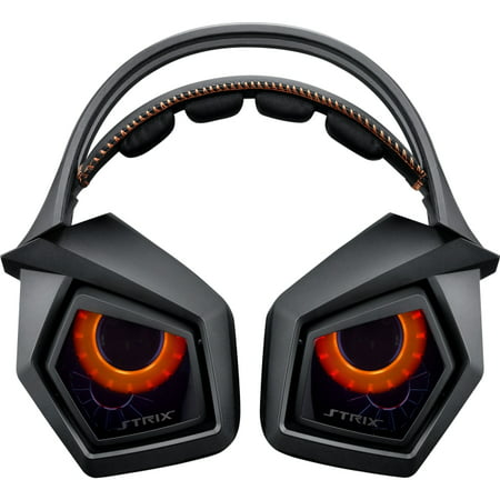 True 7.1 gaming headset with 10 discrete neodymium-magnet drivers and a plug-and-play USB audio station