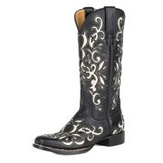 Stetson Western Boots Womens Leather Ivy Black 12-021-8601-1081 BL