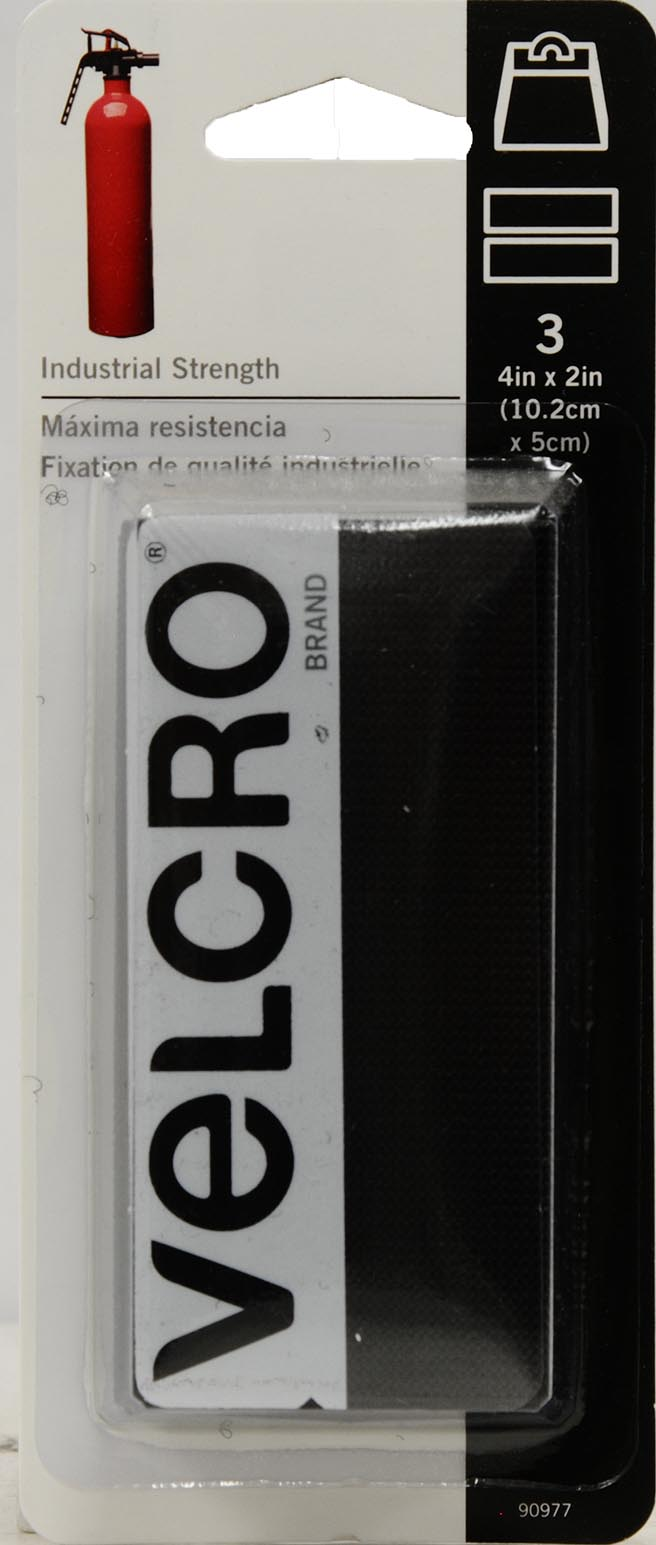 VELCRO Brand Industrial Strength 4in x 2in Strips, Black 3 ct. by VELCRO® Brand