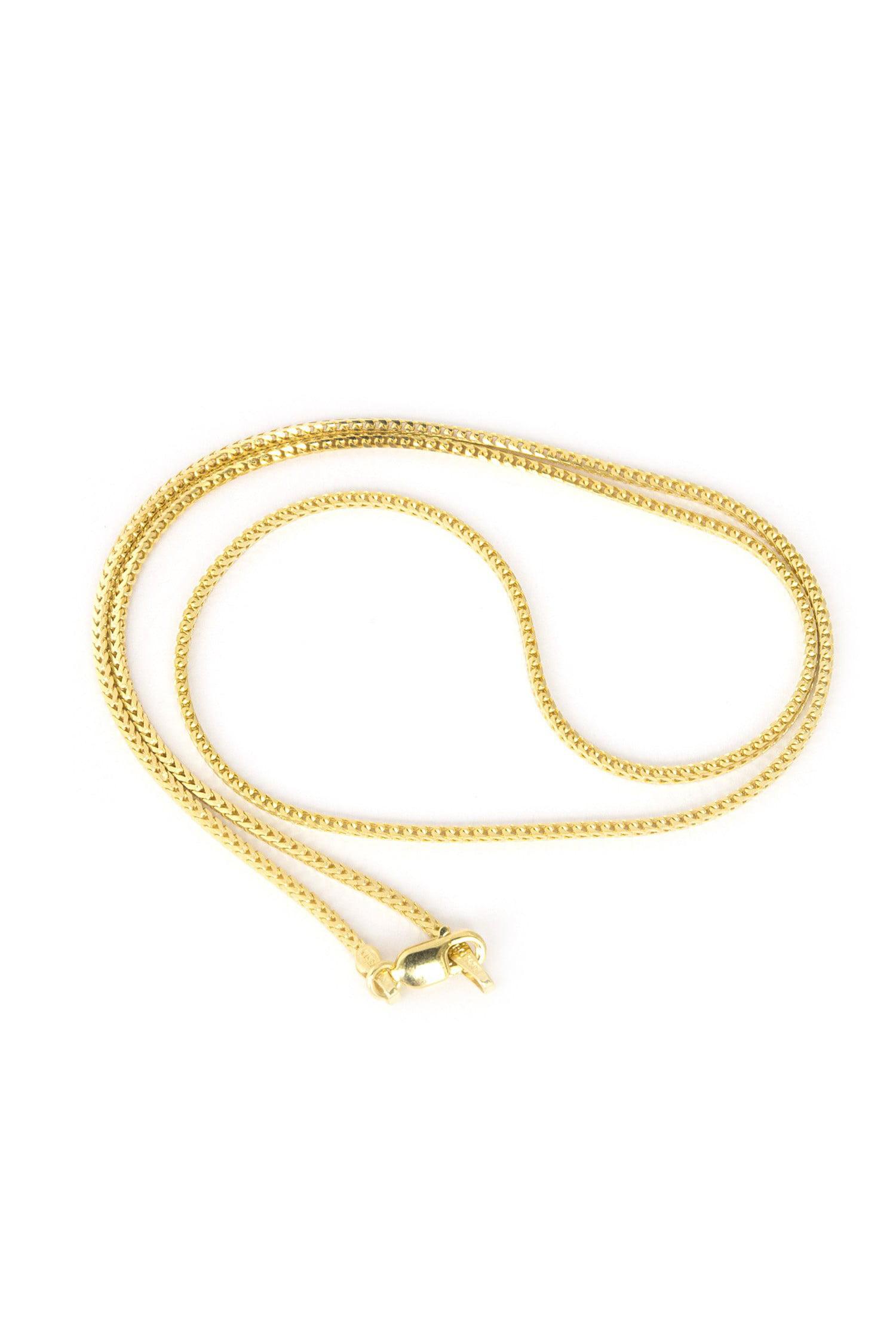 20 inch 18 inch 14K White Gold 1.2 Franco Chain in 16 inch 24 inch