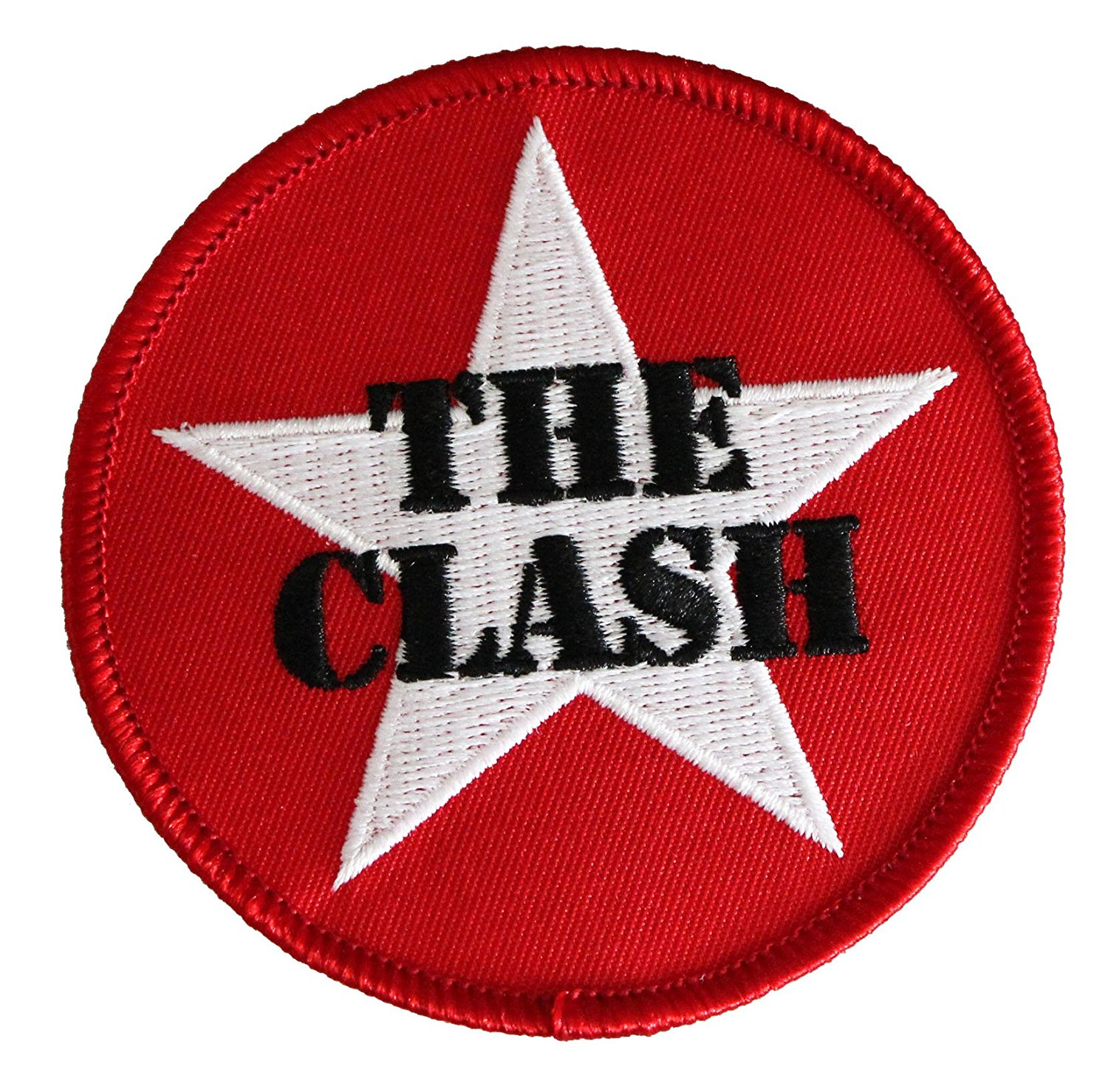 The CLASH STAR LOGO, Officially Licensed Original Artwork, High Quality Iron-On / Sew-On, 3' x 3' Embroidered Patch