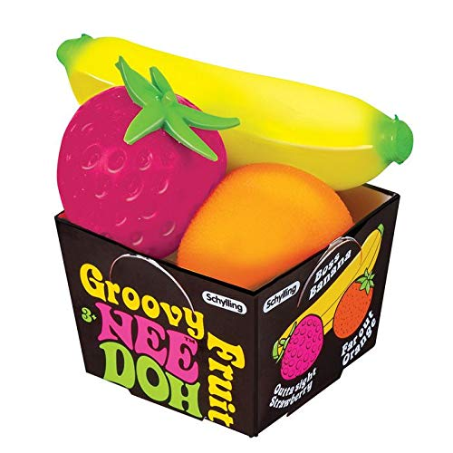 Schylling Nee Doh Groovy Fruit - Novelty Toy ()