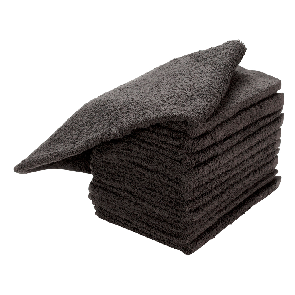 "Ultimate 16"" x 29"" Cotton Salon Chemical Bleach Resistant Hair Towels, CHARCOAL GREY, 87436"