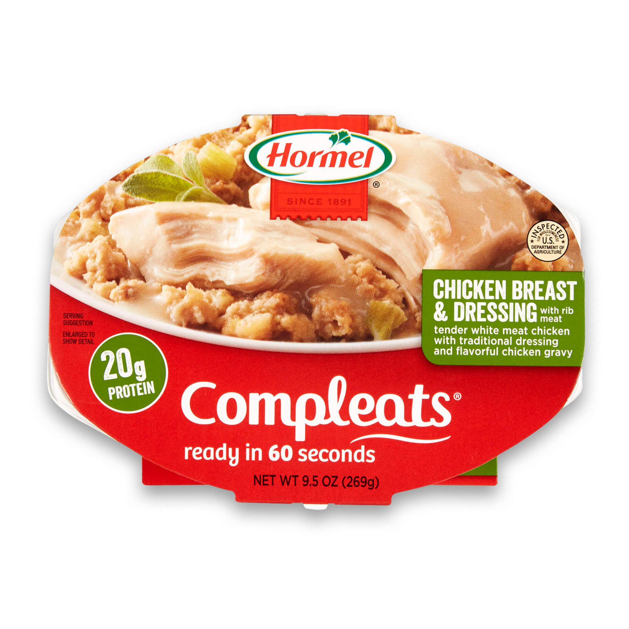 Hormel Compleats Chicken Breast & Dressing, 9.5 Ounce