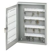 SecurIT Locking Key Cabinet, 100-Key, Steel, Gray, 16 1/2 x 3 x 22 1/2 -PMC04984