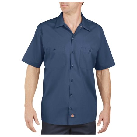Dixie Tee Shirts - Dickies Mens Industrial Short Sleeve Work Shirt, Navy - 4X