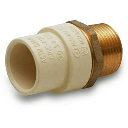 """Everflow Supplies BRCPM114-NL 1-1/4"""" Lead Free Adapter Fitting with a Brass Male and a CPVC Connect"""