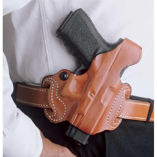 Desantis 085TA8BZ0 Thumb Break Mini Slide Belt Holster Tan RH Fits Glock 43 by Desantis