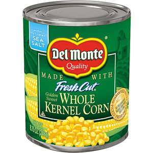 Del Monte Fresh Cut Golden Sweet Whole Kernel Corn, 8.75 OZ