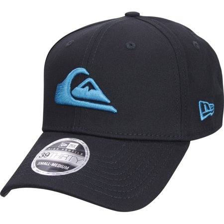 Quiksilver Mens New Era 3930 Mountain & Wave Stretchfit Hat - (Quiksilver Print Hat)