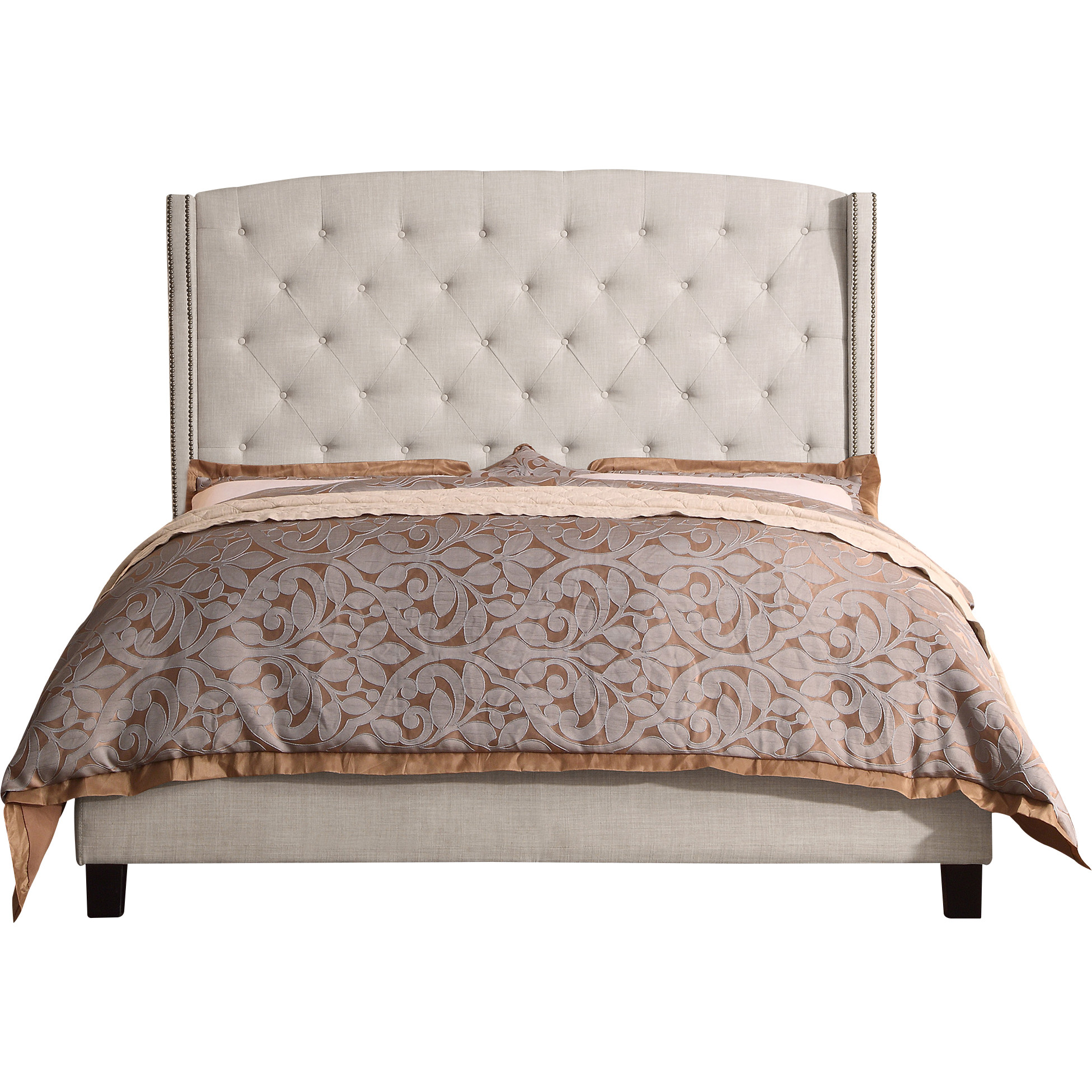 Alton Furniture Lucia King Upholstered Panel Bed, Beige by Fully Wind Co, Ltd.