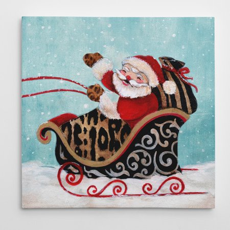 Wexford Home Santa and His Sleigh by Eugene Tava Graphic Art on Wrapped Canvas