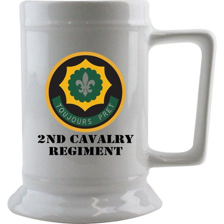 Army 2nd Cavalry Division 16 oz. Beer Stein