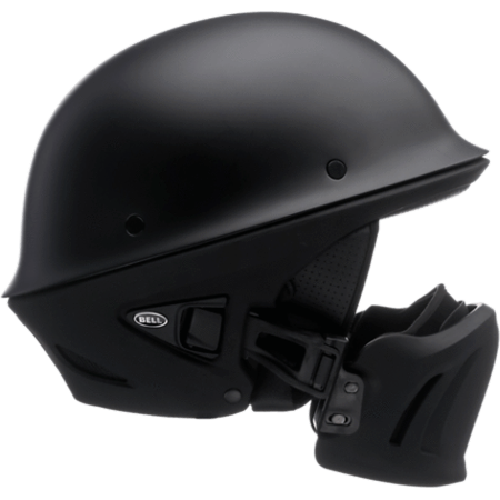 Bell Motorcycle Helmet >> Bell Rogue Half Size Motorcycle Helmet Solid Matte Black Medium