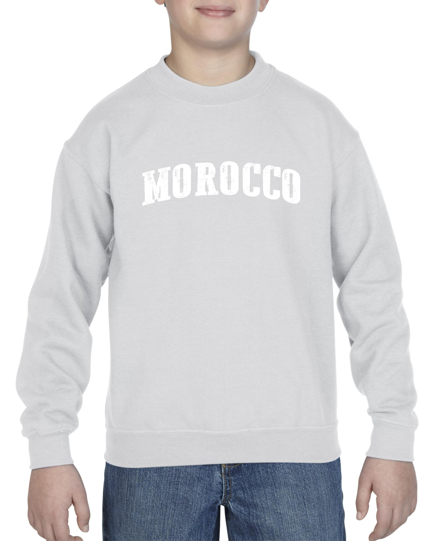 Morocco Morocco Unisex Youth Kids Crewneck Sweater Clothing