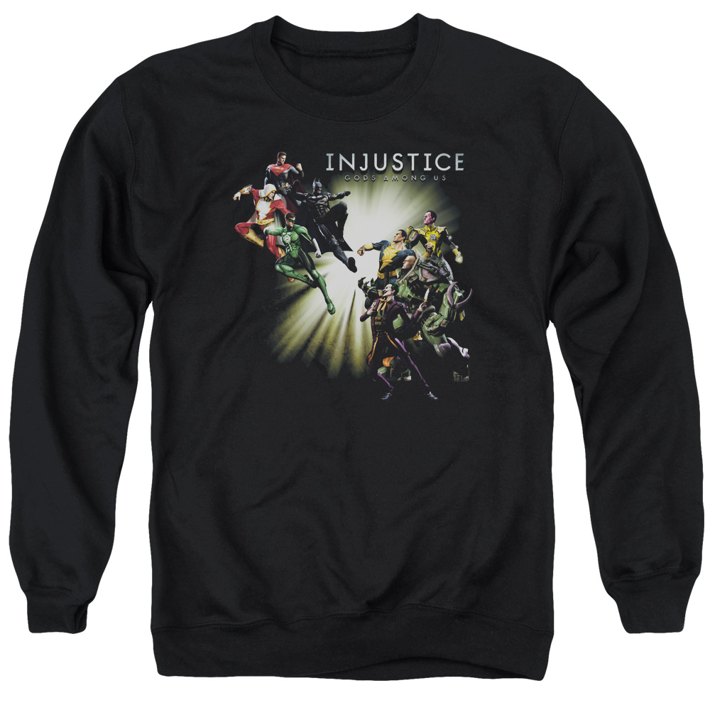 Injustice Gods Among Us Good Vs Evil Mens Crewneck Sweatshirt