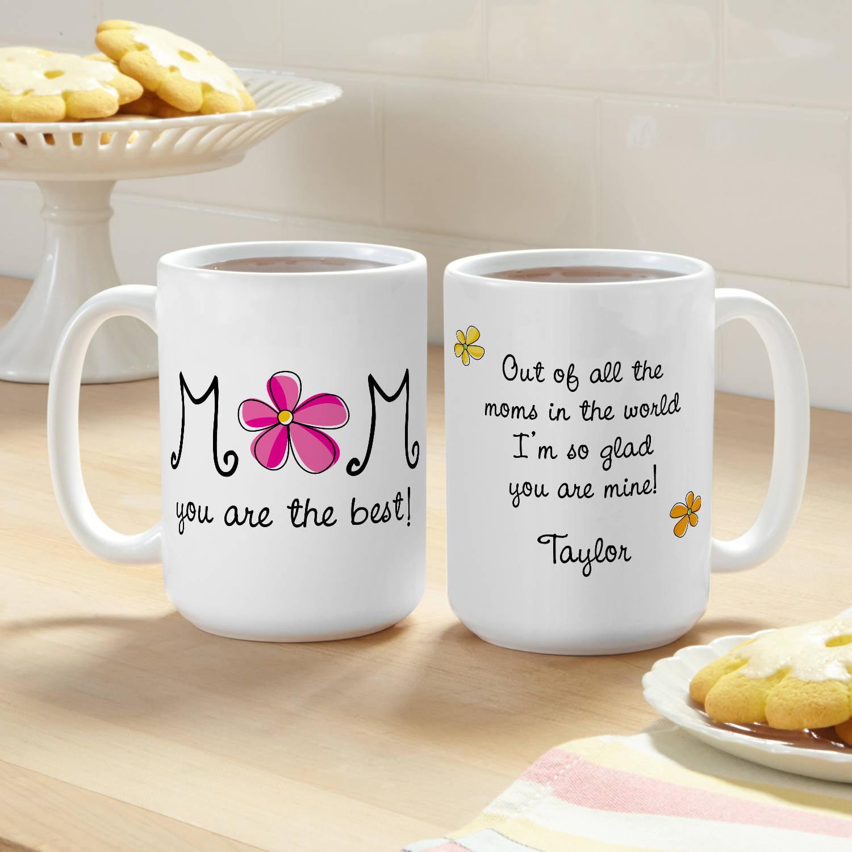 Personalized Best Mom Coffee Mug, 15 oz