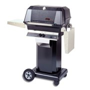 40000 BTU LP Gas Grill Head w Black Column & Patio Base