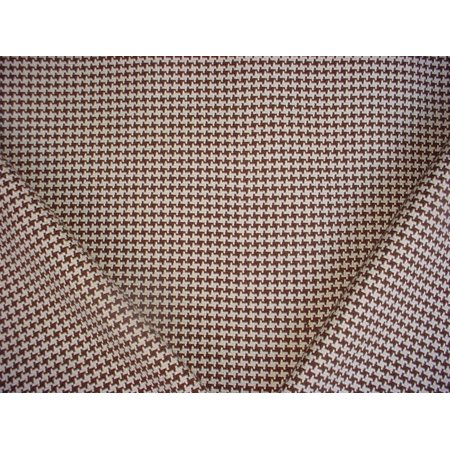 93RT9 - Espresso Brown / Grey White Houndstooth Star 100% Cotton Woven Designer Upholstery Drapery Fabric - By the Yard