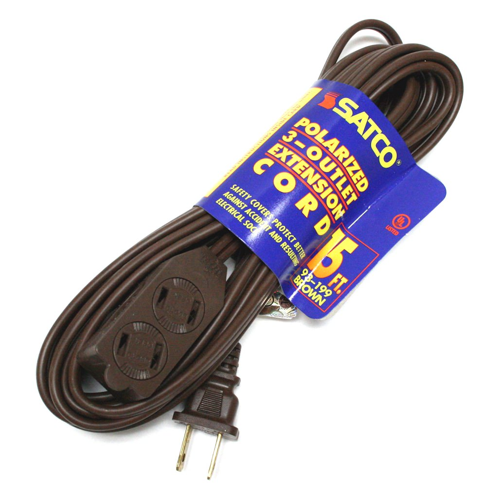 Satco 93199 - 15' Brown Extension Cord