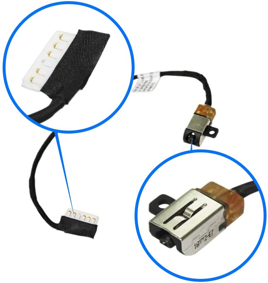 MMOBIEL DC Power Jack Dock Connector Flex Cable Replacement Compatible with Dell Inspiron 15 5565 5567 I5567-4563GRY I5567-1836GRY Inspiron 17 5765 i5765 17 5767 i5767 Series