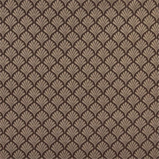 Designer Fabrics D303 54 in. Wide , Beige And White Fan Jacquard Woven Upholstery Fabric