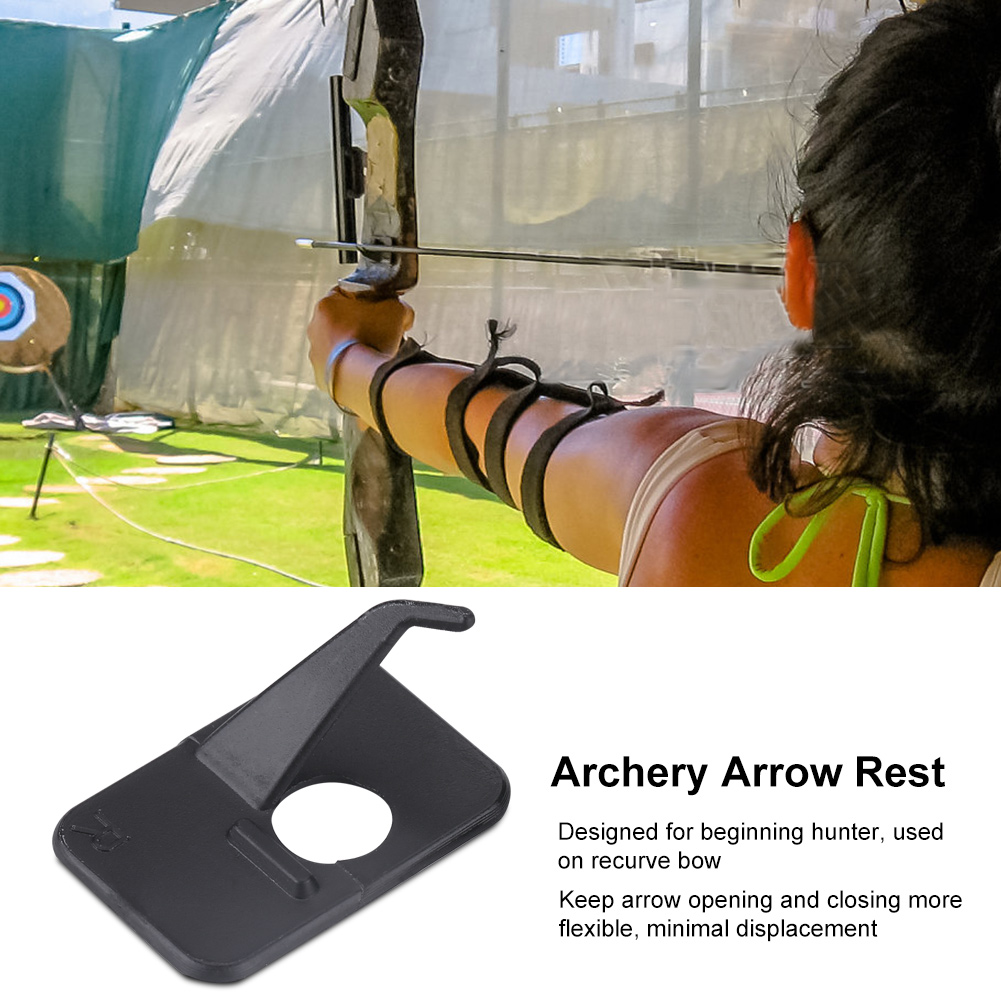 Arrow Rest Plastic Recurve Bow Right Hand /& Left Hand Black and White Color HGDS
