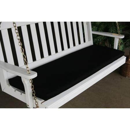 Tan Swing - A & L Furniture Sundown Agora 68 x 17 in. Cushion for Bench or Porch Swing