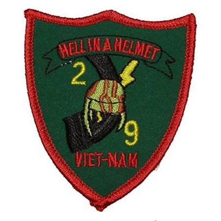 USMC 2ND SECOND BATTALION 9TH NINTH MARINES 2/9 HELL IN A HELMET VIETNAM PATCH (Battalion Patch)