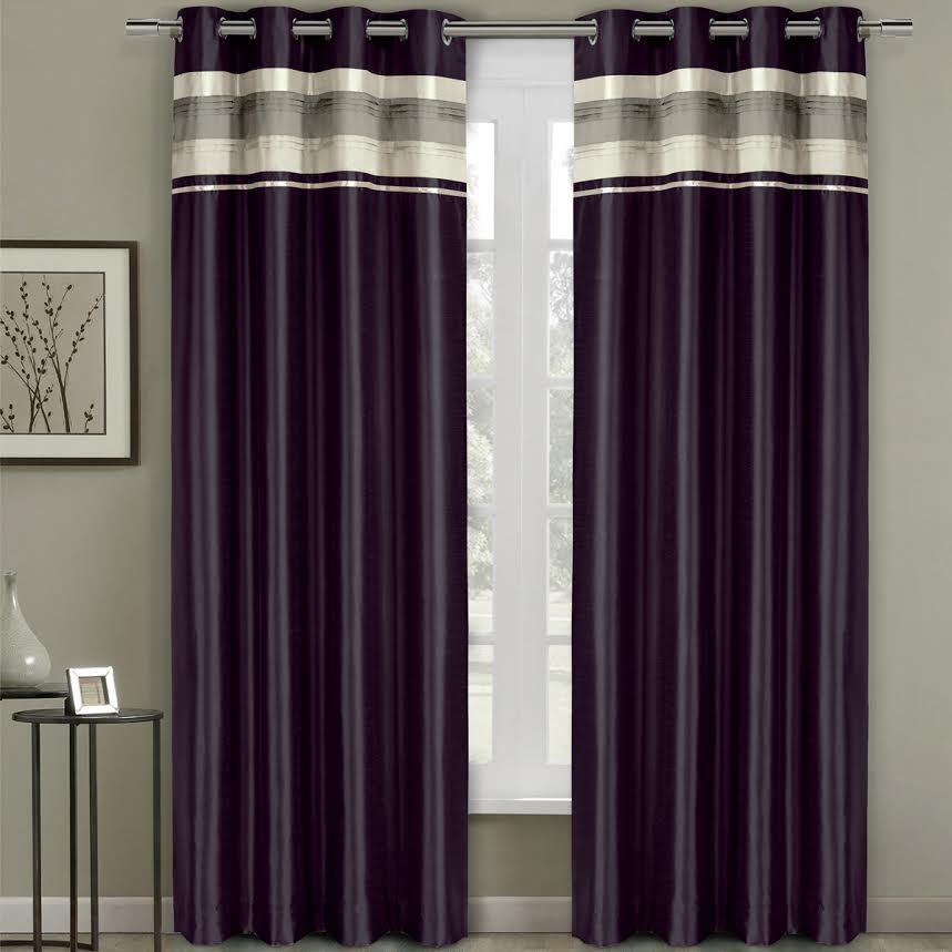 "Milan Blackout Multilayer Energy Saving Grommet Single Curtain Panels - 54 x 96"" Panel - Plum"