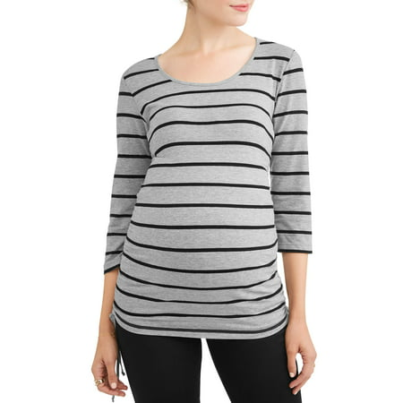Cinch Waist Top - Maternity Stripe Side Cinch Tunic - Available in Plus Sizes