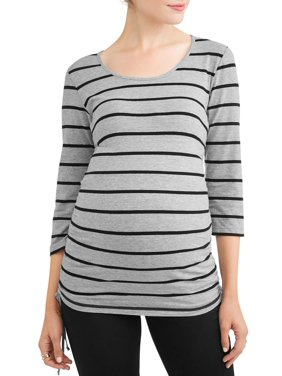 703654fe94896 Product Image Maternity Stripe Side Cinch Tunic - Available in Plus Sizes