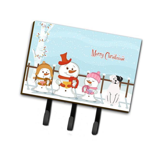 Carolines Treasures BB2445TH68 Merry Christmas Carolers White Boxer Cooper Leash or Key Holder - image 1 of 1