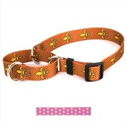 Yellow Dog Design M-NPP100XS New Pink Polka Dot Martingale Collar - Extra Small