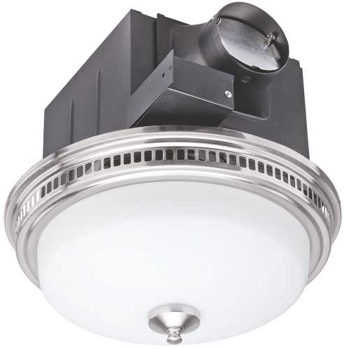 Monument Exhaust And Ventilation Fan With Light, 110Cfm