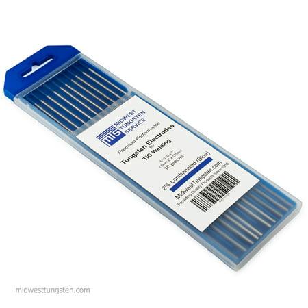 """TIG Welding Tungsten Electrodes 2% Lanthanated 1/16"""" x 7"""" (Blue)"""