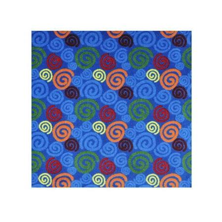 Multi Cut Spiral (Joy Rugs Spirals Machine Tufted - Cut Pile Multi 3'10