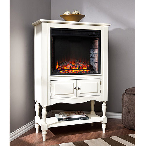 Pennsman Electric Fireplace Tower, Antique White - Walmart.com