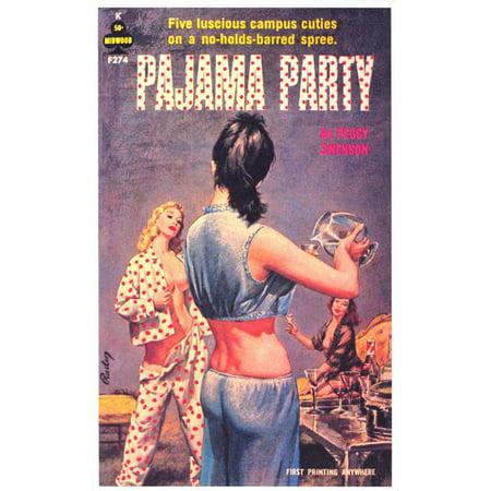 Pajama Party POSTER Movie Retro Book Cover Mini Promo - Pajama City Promo Code