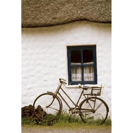 Posterazzi DPI1821023LARGE Tahtched Cottage & Bike Poster Print by Richard Cummins, 24 x 36 - Large - image 1 of 1
