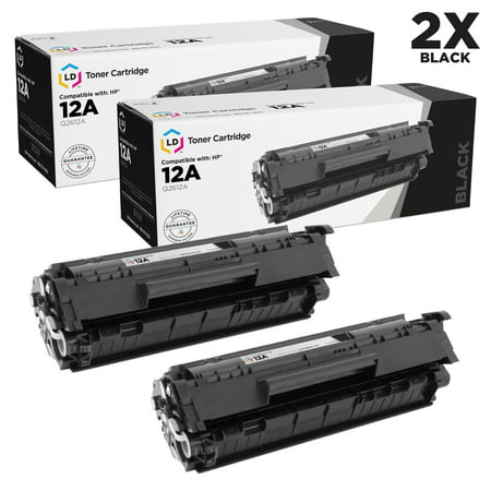 LD Compatible Toner Cartridge Replacements for HP 12A HP Q2612A (2-Pack HP Q2612A Replacement Toner Cartridges)